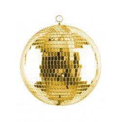 Złota kula dyskotekowa 20 cm