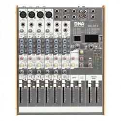 Mikser audio 8 kanałów + USB / BT