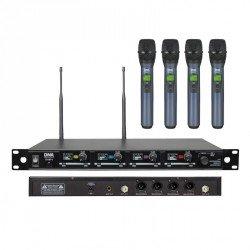Zestaw 4 mikrofonów bezprzewodowych