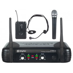 Zestaw mikrofonów bezprzewodowych (doręczny + nagłowny)