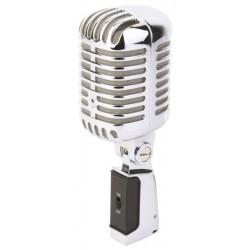 Mikrofon chromowany PDS-M02 - w stylu Retro