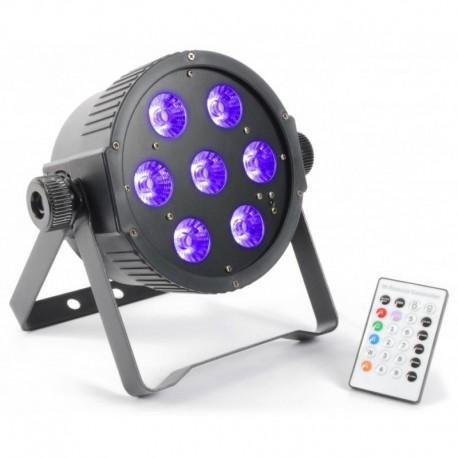 Reflektor FlatPAR 7x18W LED RGBAWUV DMX