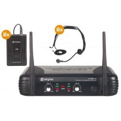 STWM712H Dwukanałowy zestaw z dwoma nagłownymi mikrofonami bezprzewodowymi VHF